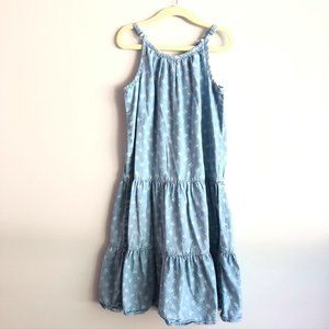 Gap Kids Tiered Maxi Chambray Dress